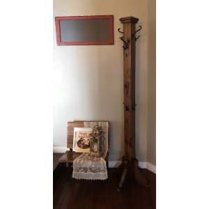 Rustic Hickory Hall Tree