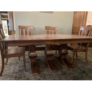 Liberty Bell Table w/ rough-sawn top