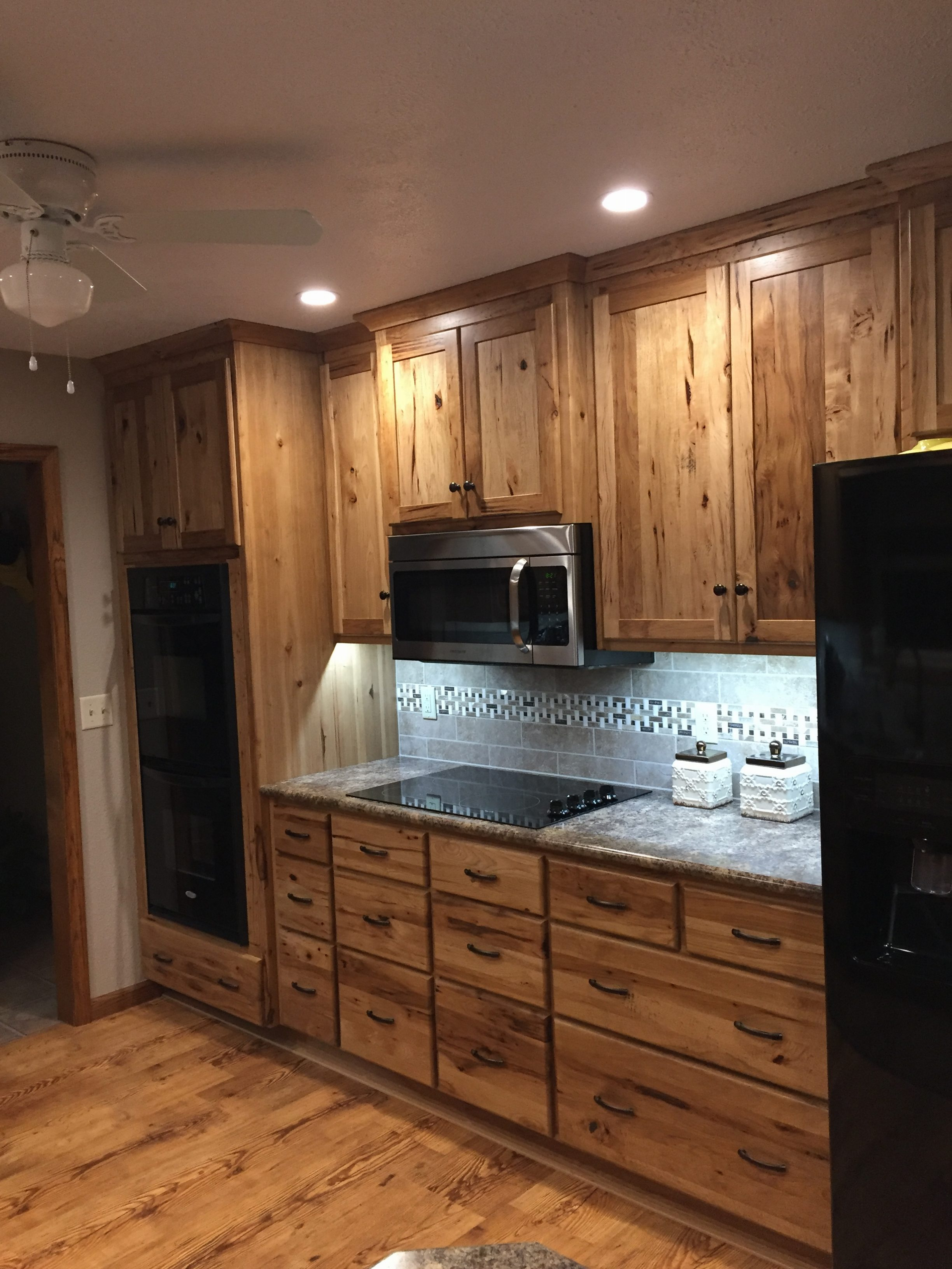 Rustic Hickory Kitchen Cabinets - Wheatstate Wood Design